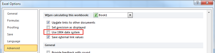 Excel 1904 Date System