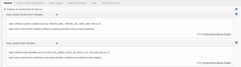 Jenkins build environment